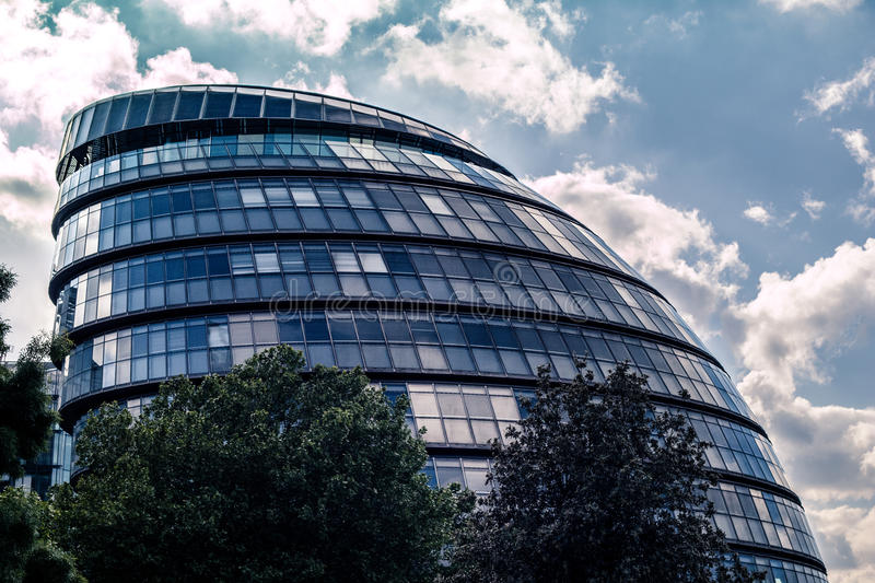 London City Hall. The London City Hall situated by the Thames stock photography