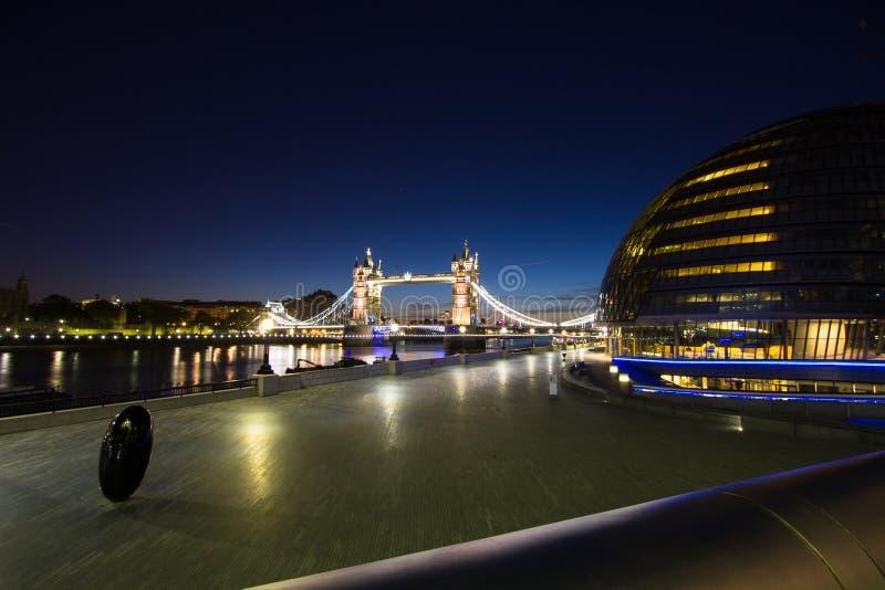 London City Hall Tower Bridge royalty free stock image