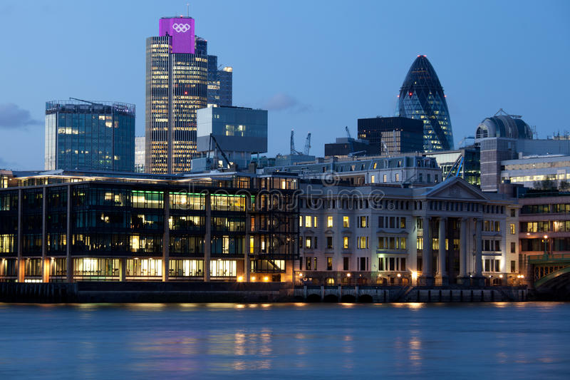 Download London City Illuminated With Olympic Rings Editorial Photo - Image: 25523701
