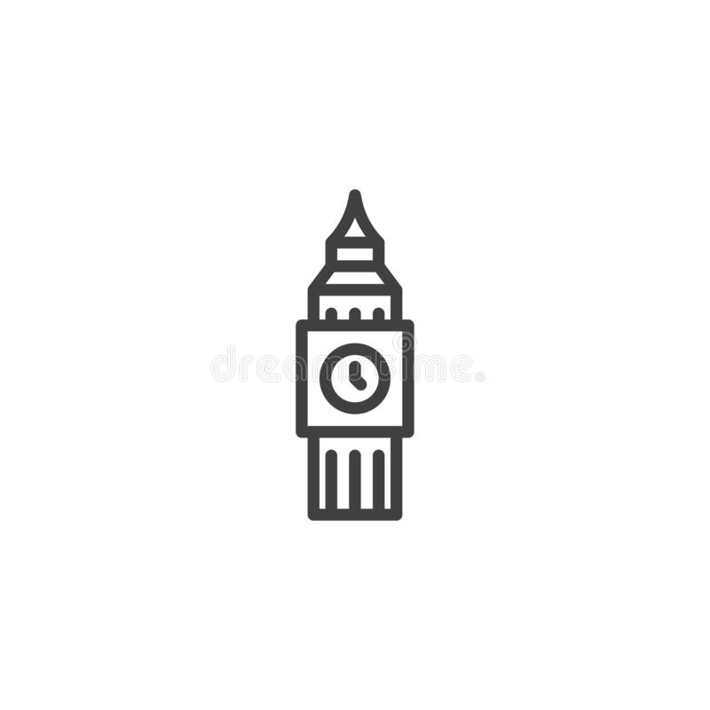 London city landmark line icon stock illustration