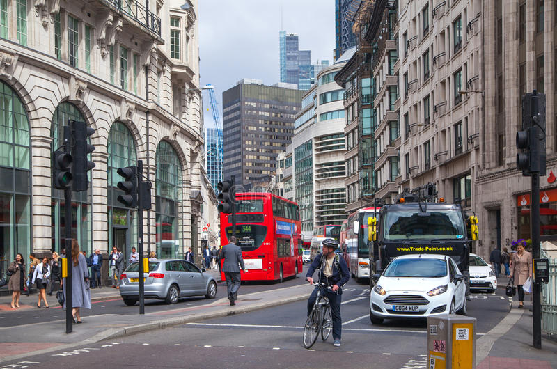 Download LONDON City Of London Street View Editorial Stock Image