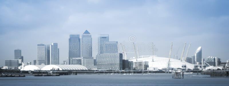 London city o2 arena skyline panorama royalty free stock photography
