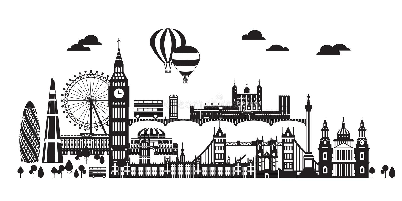 London City Skyline vector 4 royalty free illustration
