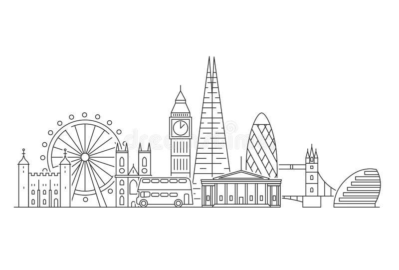 London city skyline. royalty free illustration