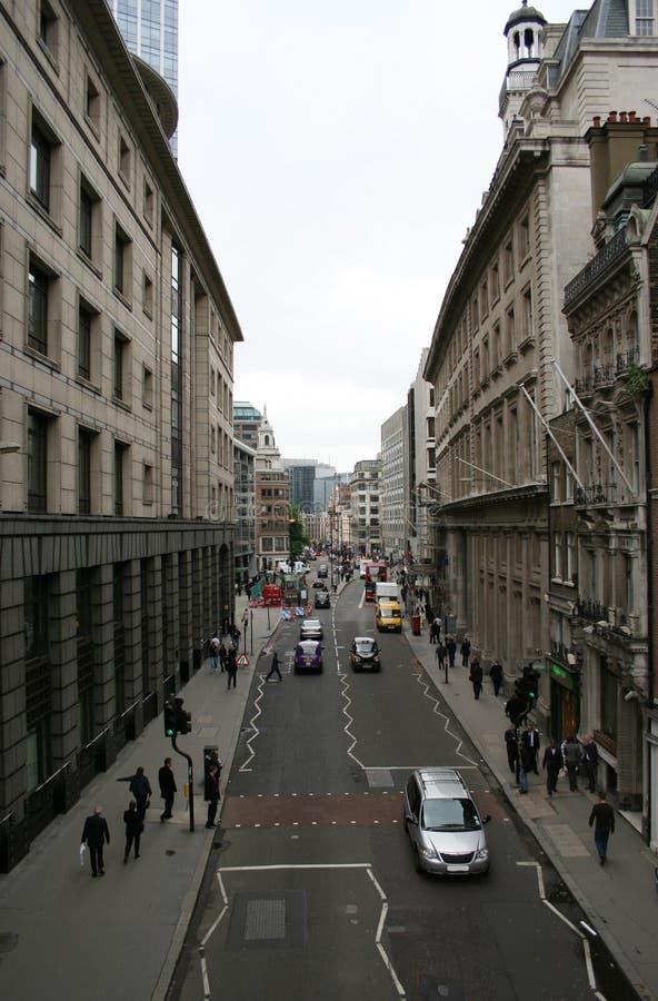 London city street stock photo