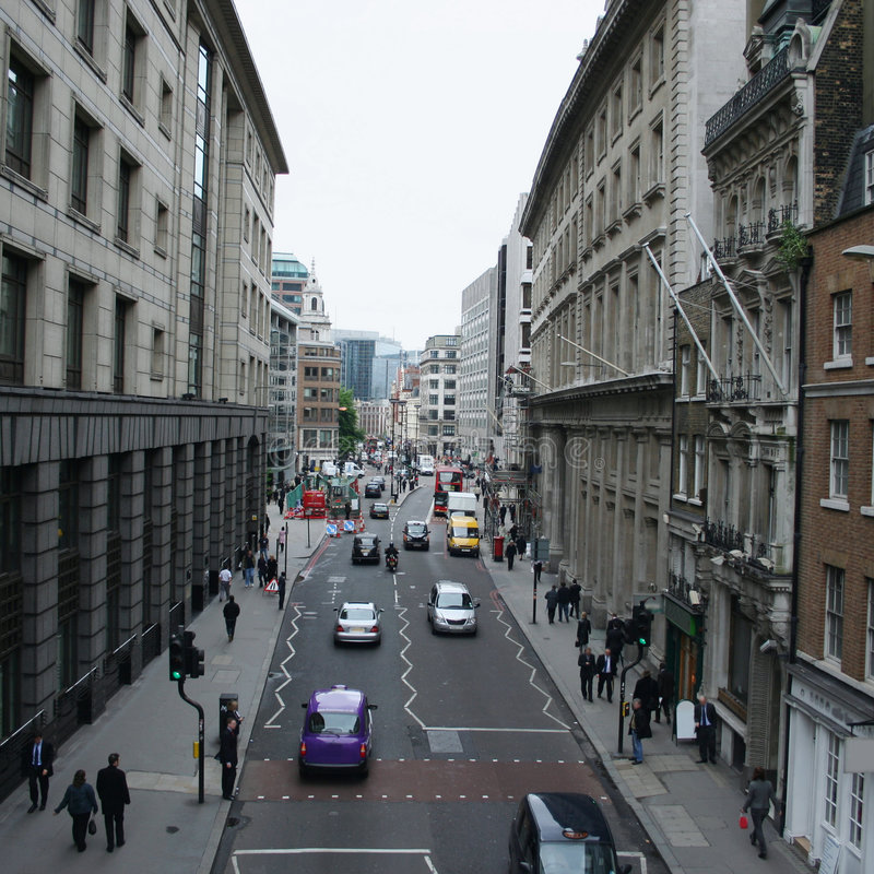 Download London City Street Scene Stock Photo - Image: 4435930