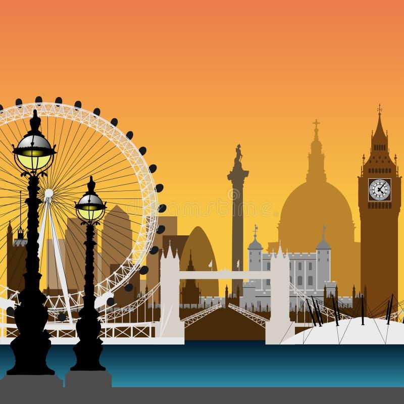 London Cityscape. A Vector Cityscape of London royalty free illustration