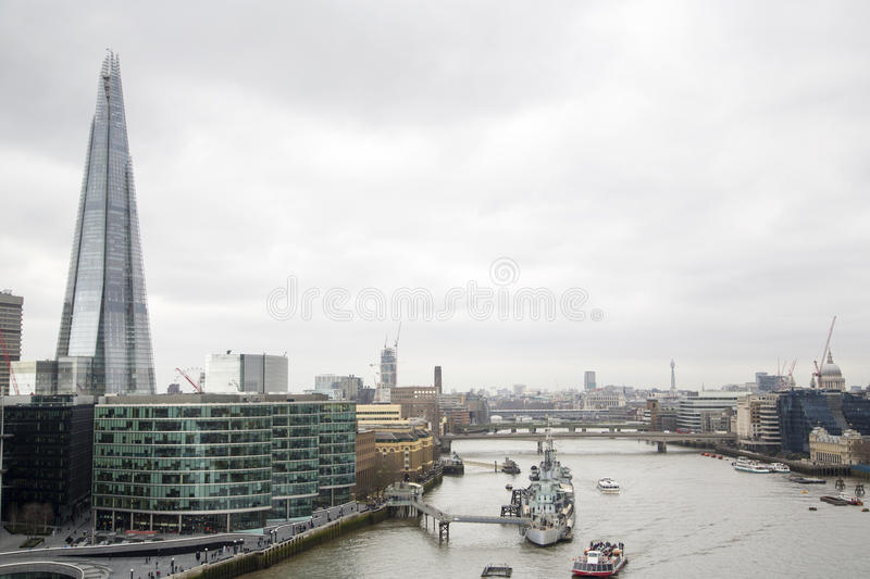 London Cityview. A city view of London stock photography