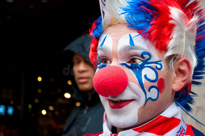 Download London clown editorial stock image. Image of costume - 27715689
