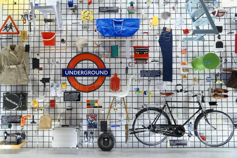 London, a collage of designs and inventions. design stock photography
