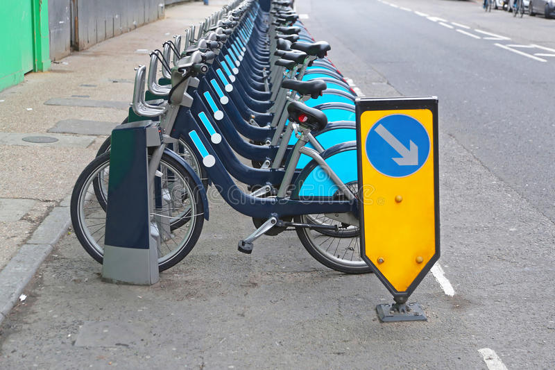 London Cycle Hire Scheme. Bicycles in London For Cycle Hire Scheme stock images