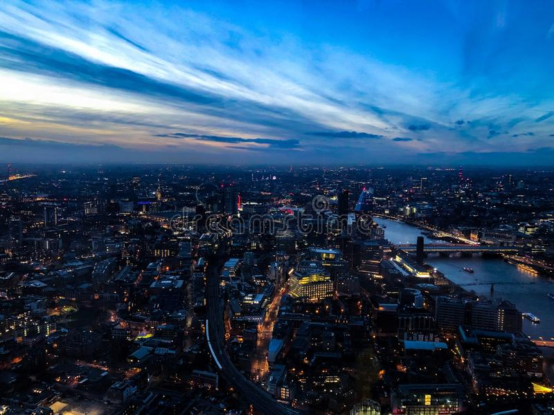 London at dawn royalty free stock images