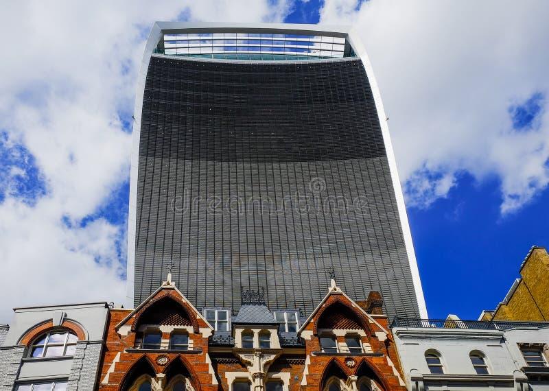 London den Walkie talkien arkivbilder
