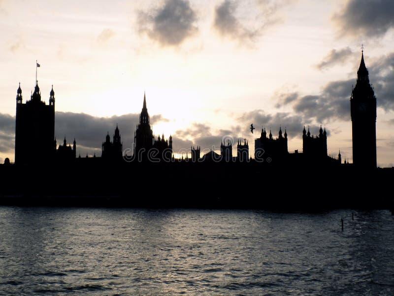 London an der Dämmerung lizenzfreie stockbilder