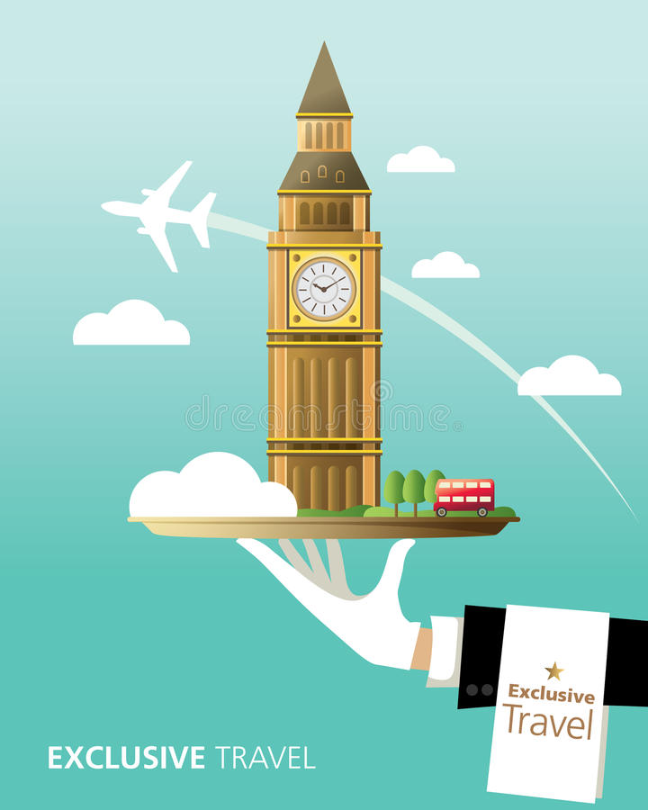 London destination stock illustrationer