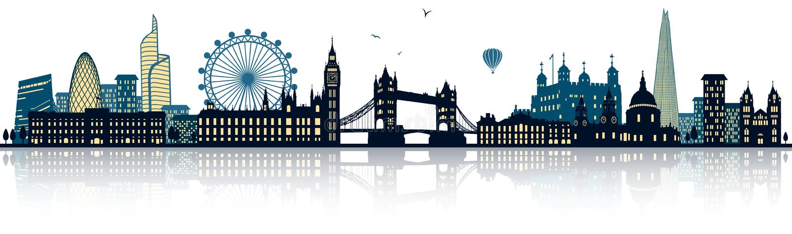 London detailed skyline vector vector illustration