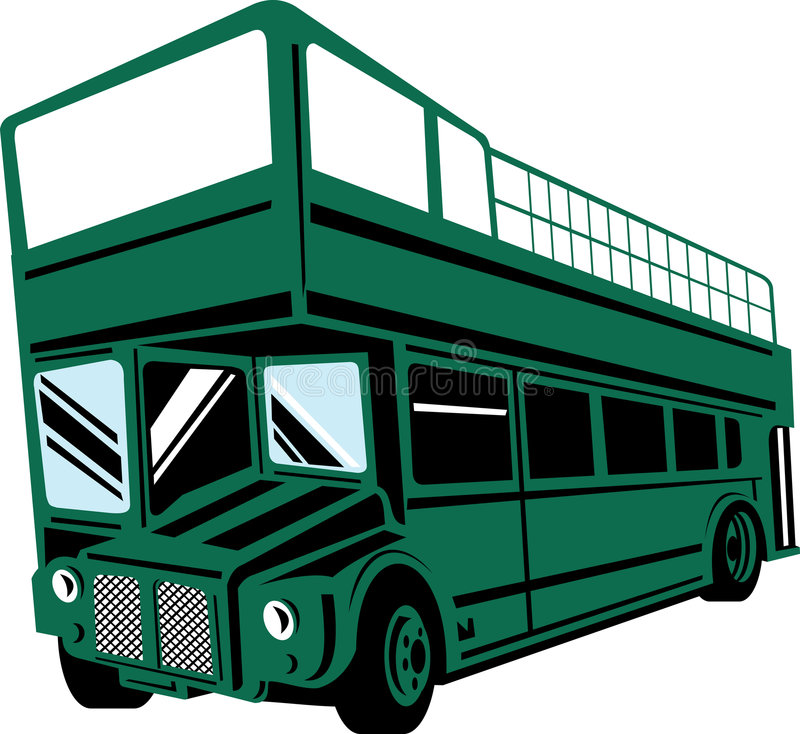 Download London Double Decker Bus stock illustration. Illustration of isolated - 6966549