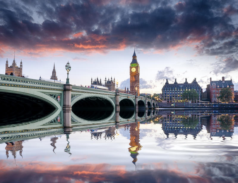 London at Dusk stock images