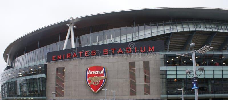 London - Emirates Stadium - arsenalfotbollklubba fotografering för bildbyråer