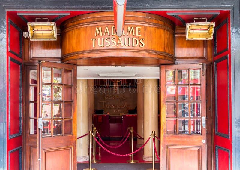 London, England - April 3, 2017: Entrance of Madame Tussaud's mu stock photo