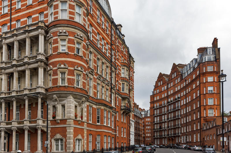 London, England - June 18 2016: Amazing view of typical English building, London royalty free stock image