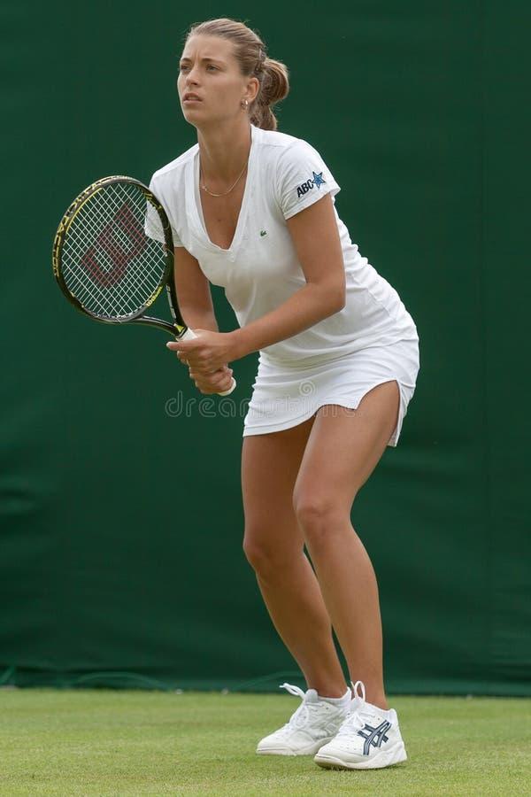 LONDON, ENGLAND-JUNE 22, 2009: Tennis player Petra Cetkovska in royalty free stock images