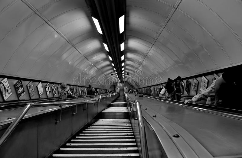The subway and its passengers royalty free stock photography