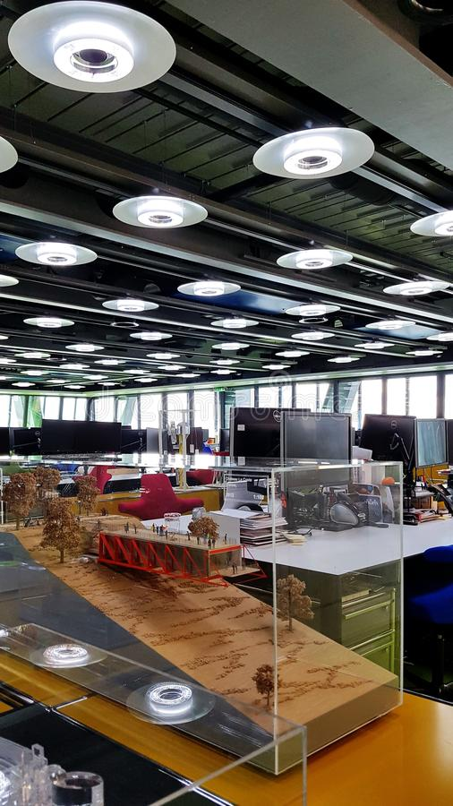 Inside the office of architects Rogers Stirk Harbour + Partners stock image