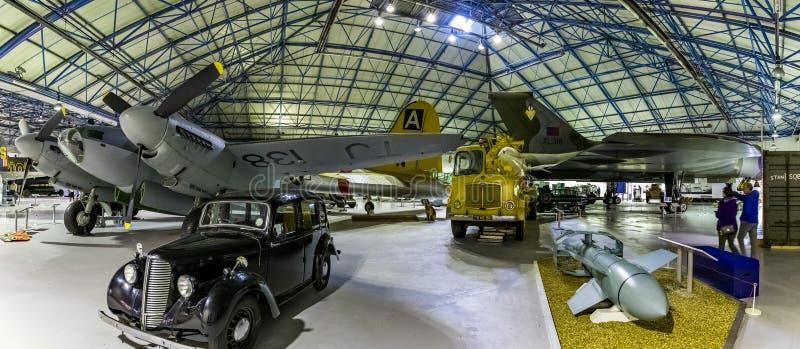 London, England, 28 september 2019 RAF-museet firar och hedrar minnet av Royal Air Force med flygplansskärmar arkivbild
