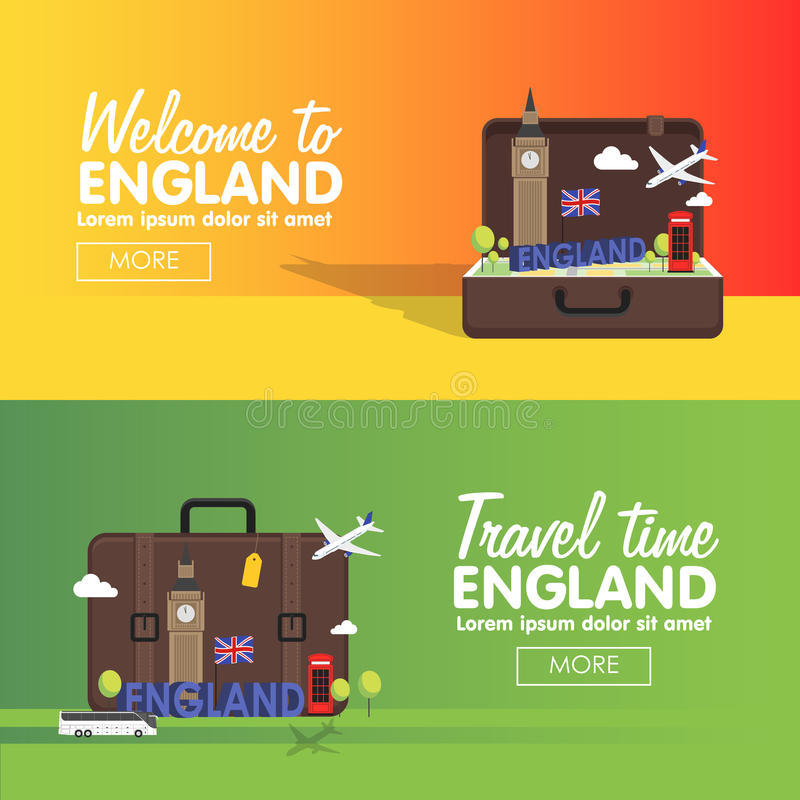 London, England travel destinations icon set, Info graphic elements for traveling to England. royalty free illustration