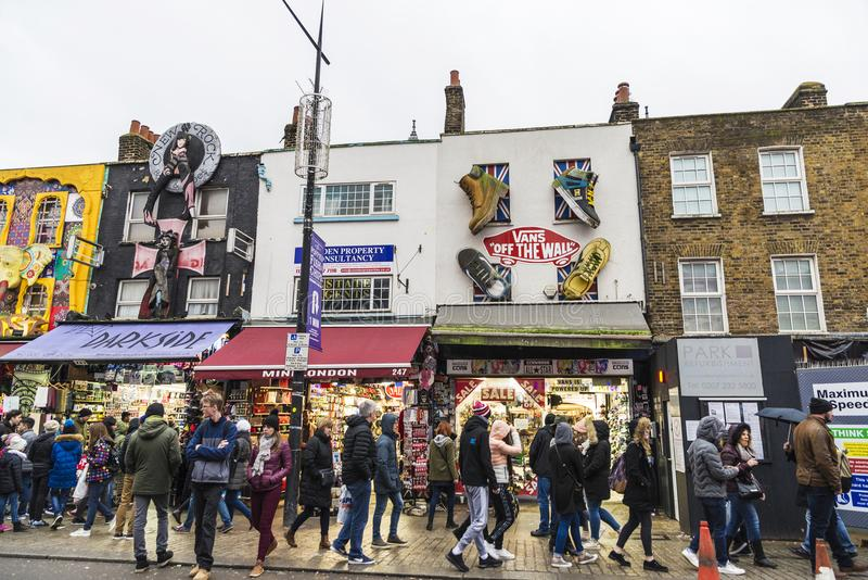 Camden High Street in London, England, United Kingdom royalty free stock images
