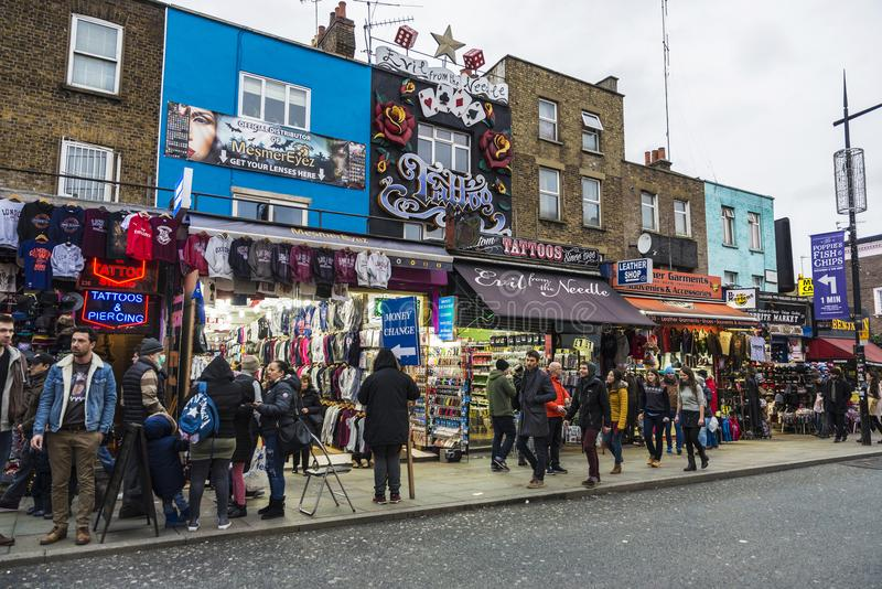 Camden High Street in London, England, United Kingdom stock photos