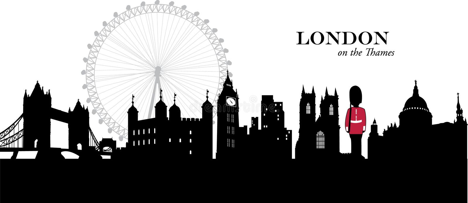 London, England stock illustration