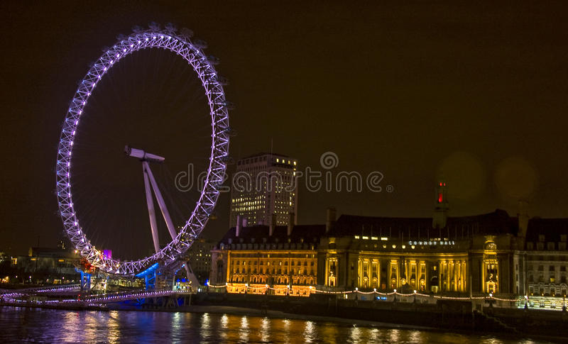 London Eye. The Millennium Wheel in London royalty free stock photo