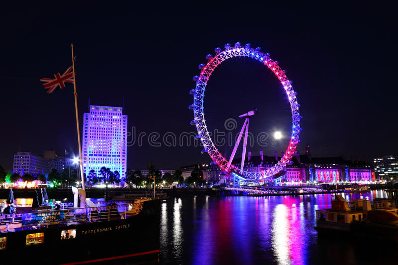London eye 2012 Queen's jubilee royalty free stock images