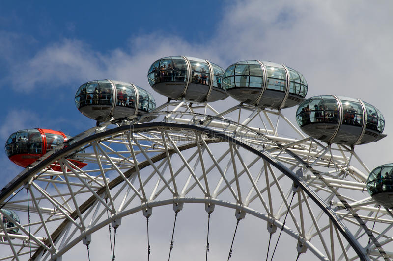 London Eye. The famous London Eye on the river Thames royalty free stock image