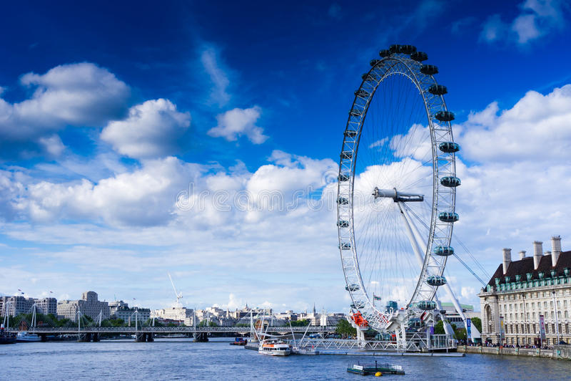 The London Eye stock photography