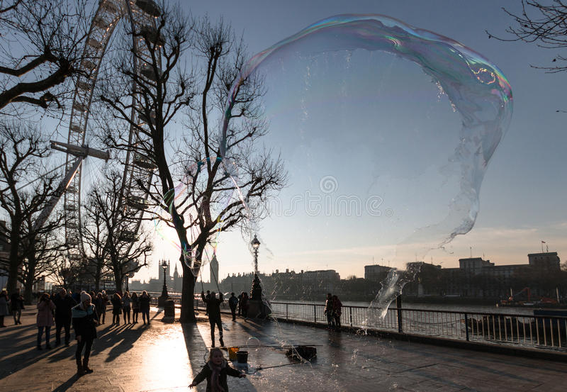 London Eye with Burst Bubble stock images