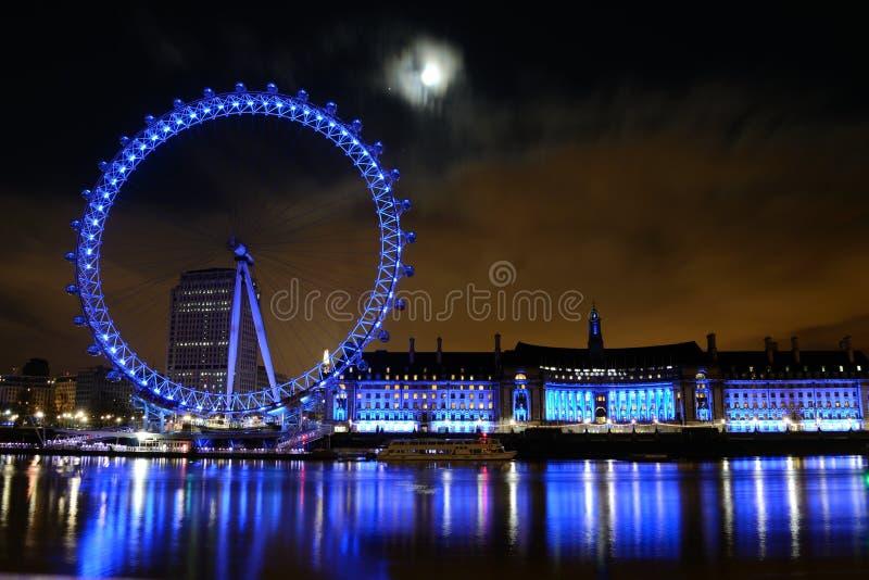 London eye. LONDON - 26 DECEMBER: London eye scene at the night time on December 26, 2012 in London stock image