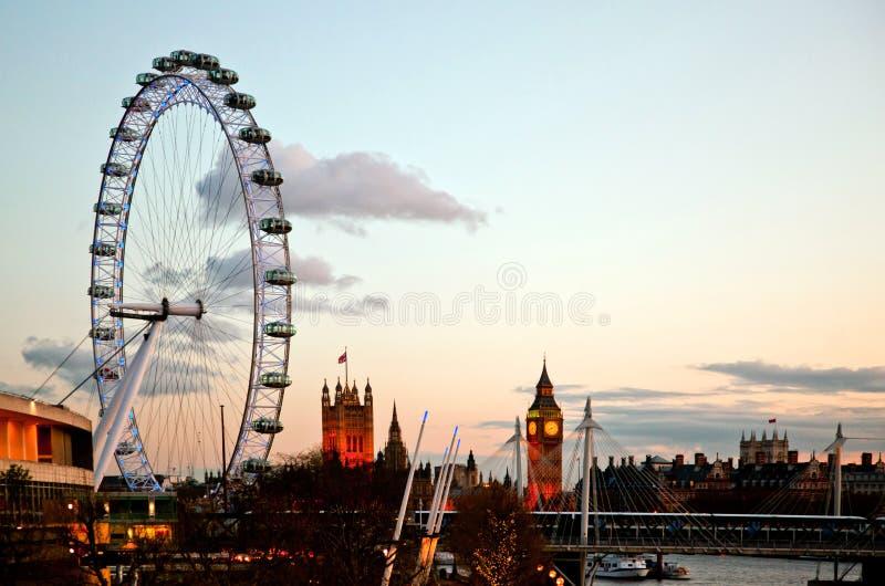 London Eye At Dusk Editorial Stock Photo