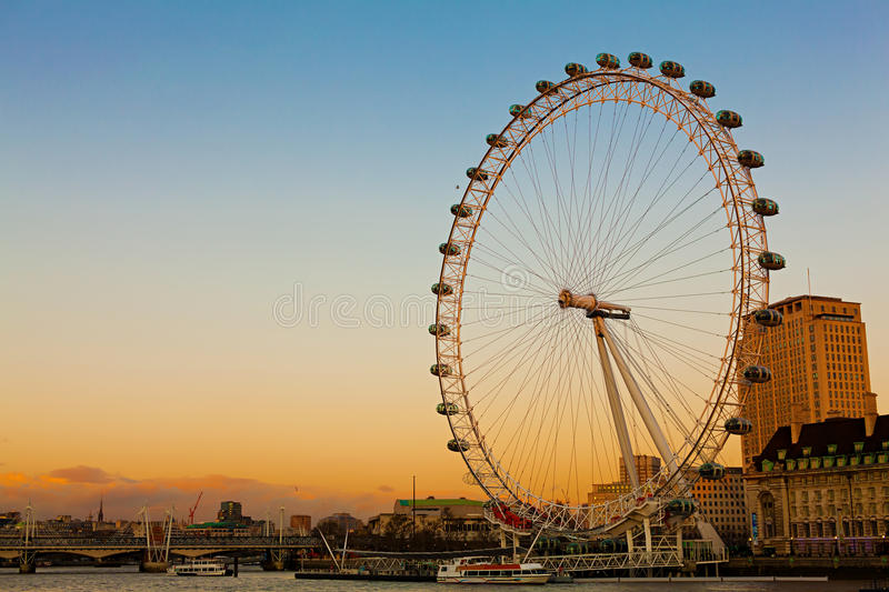 Download London Eye At Dusk Editorial Photography - Image: 27010812