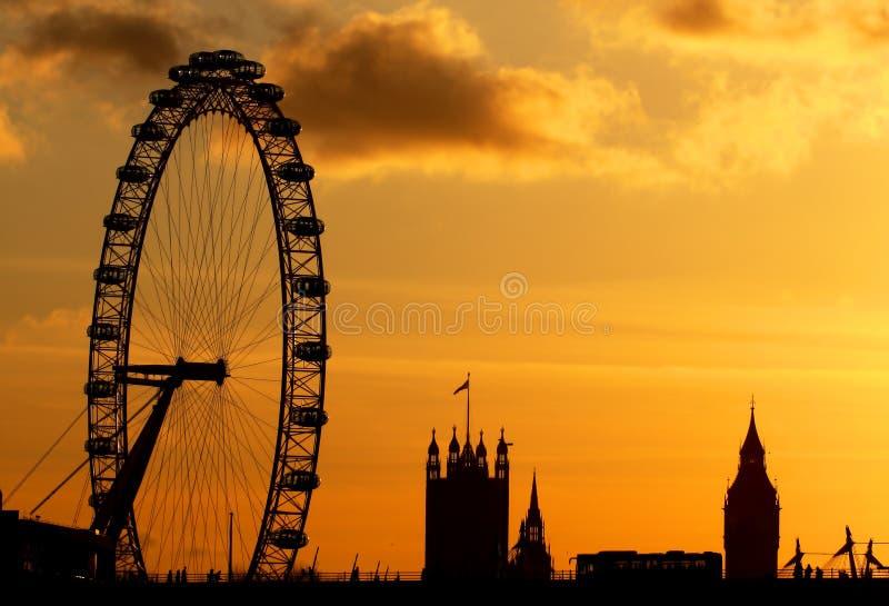 London Eye in London stock images