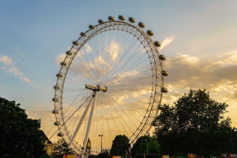 London Eye, London, England, the UK. stock images