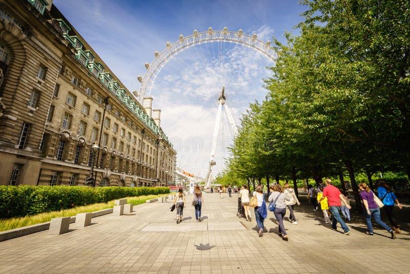 London Eye, London, England, the UK. The london eye under the sky in London, Uk, England. Photo taken on: Juillet 03rd, 2015 royalty free stock photo