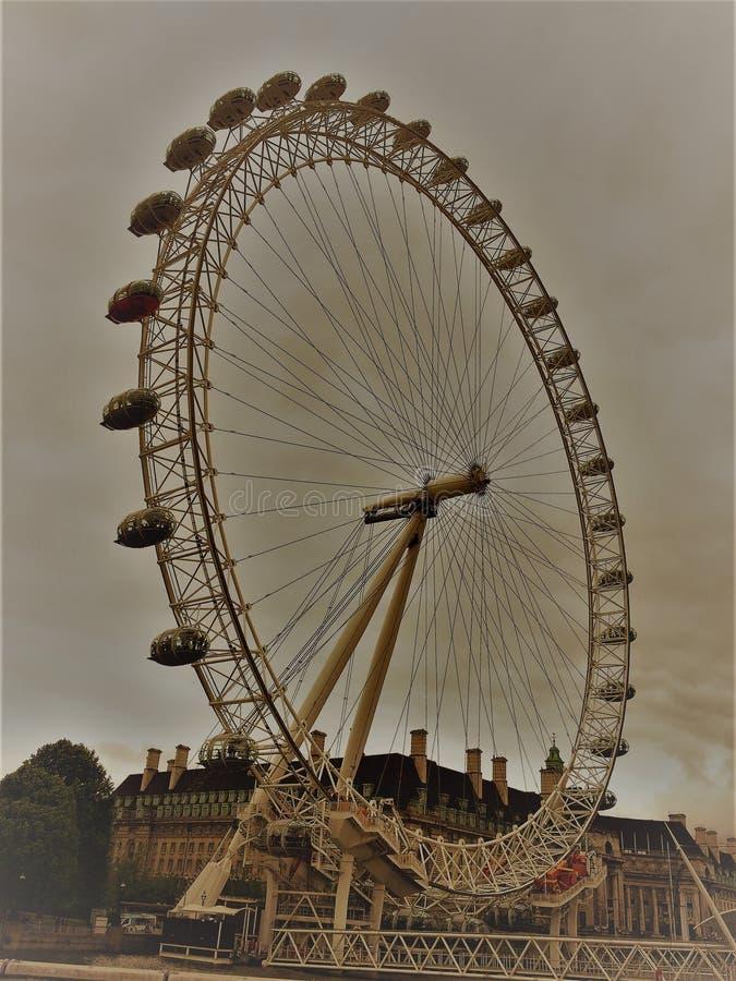 London Eye, Londyn -, Anglia zdjęcia stock