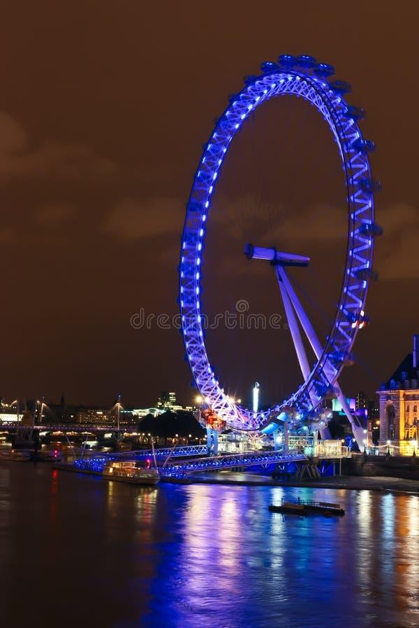 London Eye at Night royalty free stock image