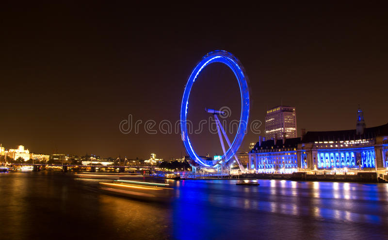 Download London Eye at Night editorial stock image. Image of reflection - 22489699
