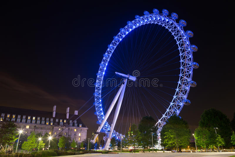 London eye at night royalty free stock photo