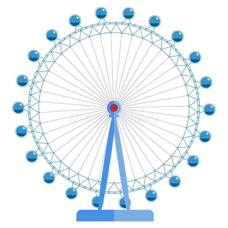 London Eye - noria enorme, una de las vistas de Gran Bretaña libre illustration