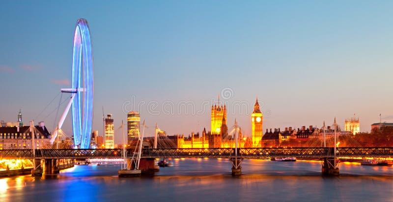 London Eye Panorama stock images